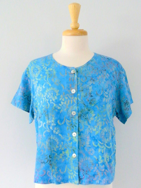 Victoria Blouse in Beach Glass
