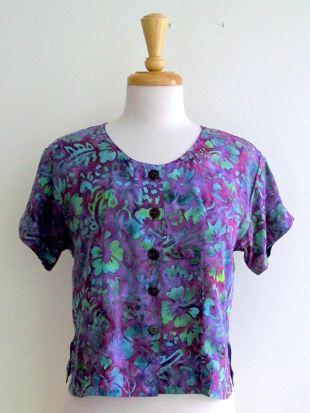 Victoria Blouse in Tropical Flower