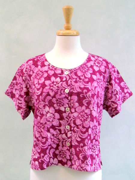Victoria Blouse in Hawaiian Rose