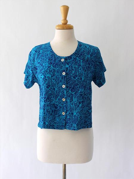 Victoria Blouse in Something Fishy