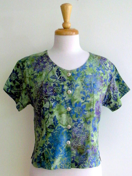 Victoria Blouse in Summer Garden