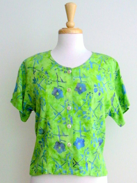 Victoria Blouse in Lime Jitter