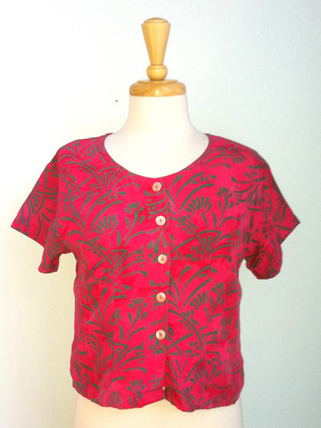 Victoria Blouse in Fuchsia Reed