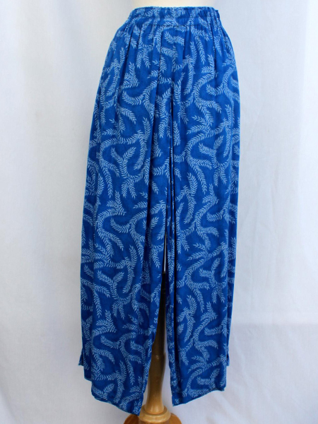 Split Skirt in Blue Seagrass