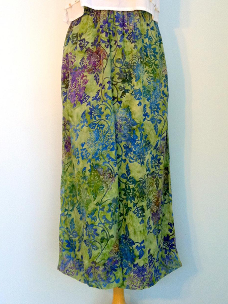 Split Skirt in Summer Garden