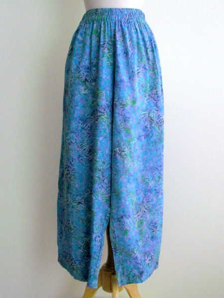 Split Skirt in Morning Peony