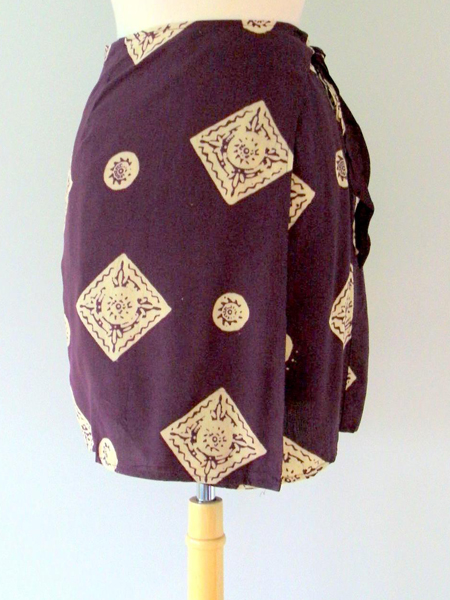 Jane Skirt in Plum Medallions