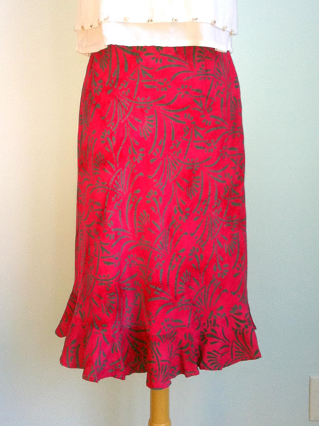 Cassie Skirt in Fuchsia Reed