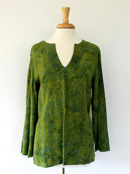 Kaftan in Green Lotus