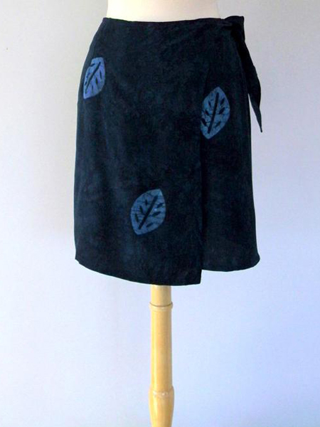 Jane Skirt in Navy Leaf